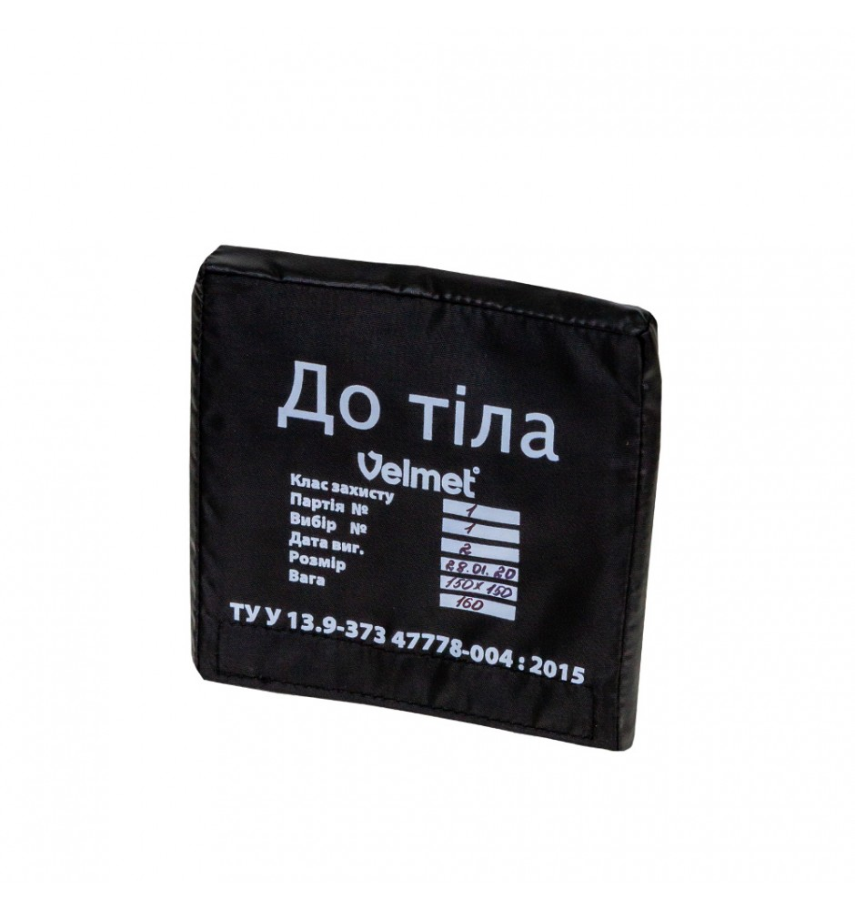 "Armor plate HPPE Level 1 ""VCA"" (150 х 150) Black"