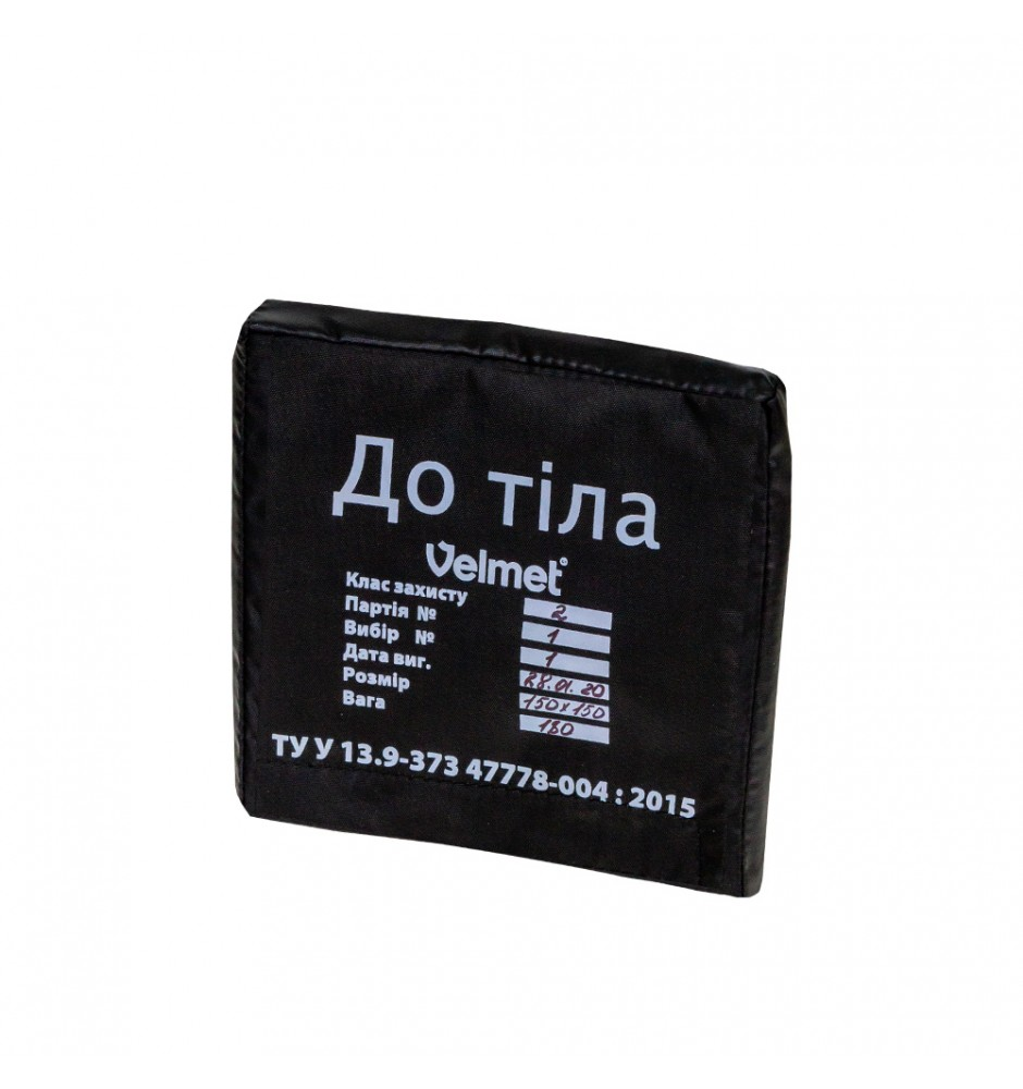 "Armor plate HPPE Level 2 ""VCA"" (150 х 150) Black"
