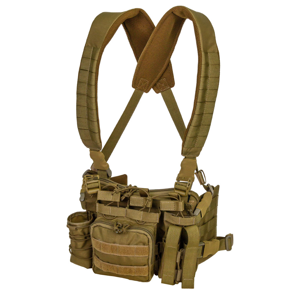 Tactical MOLLE Chest Rig Troll Mini Coyote