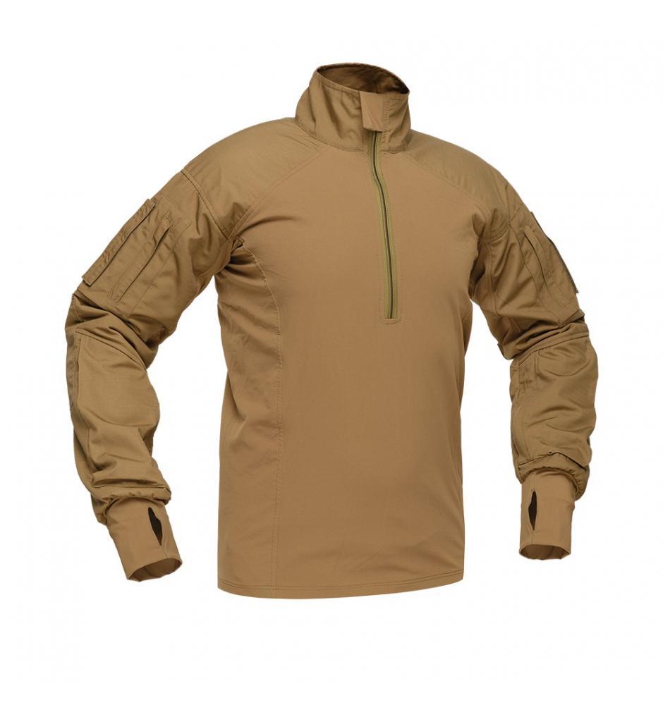 Бойова демісезонна сорочка Zewana X-1 Combat Shirt Coyote
