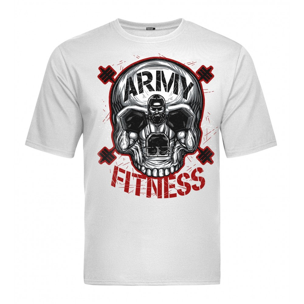 Velmet T-Shirt  V-TAC - Army Fitness White