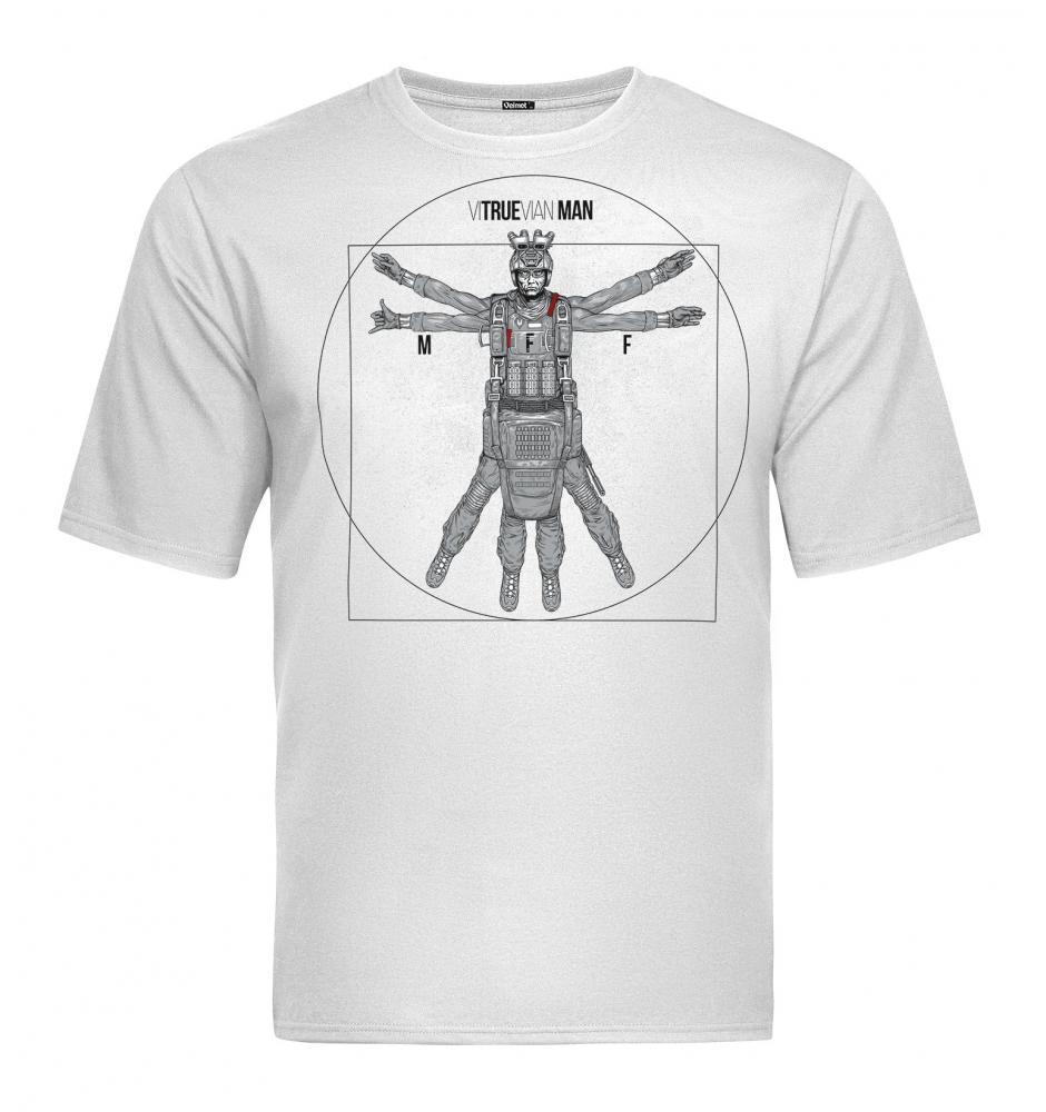 Velmet T-Shirt  V-TAC - Vitruevian White