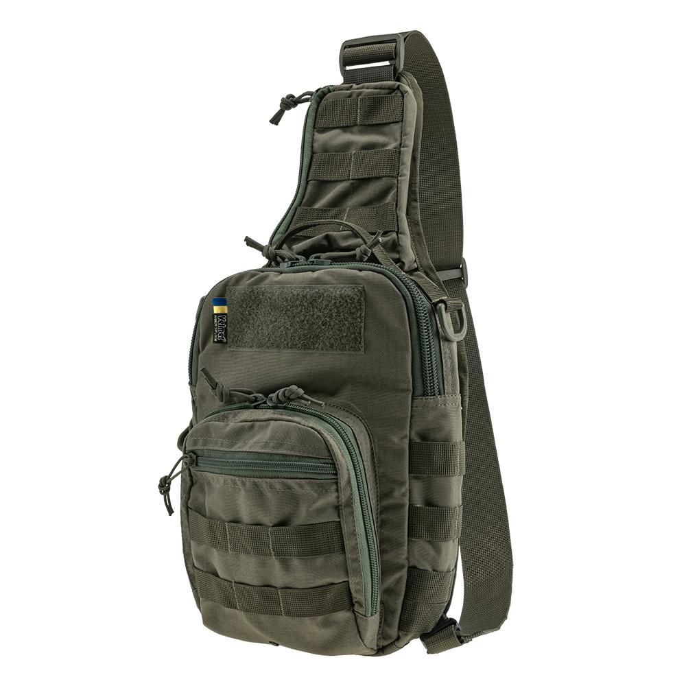 Тактична плечова однолямкова сумка EDC M Ranger Green