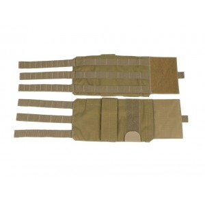 Adjustable and detachable rigid cummerbund for plate carrier PERUN 3 Coyote