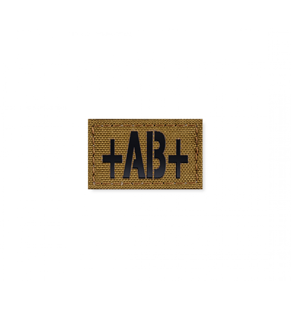 Blood Type Patch 25 * 40 (AB+) Coyote