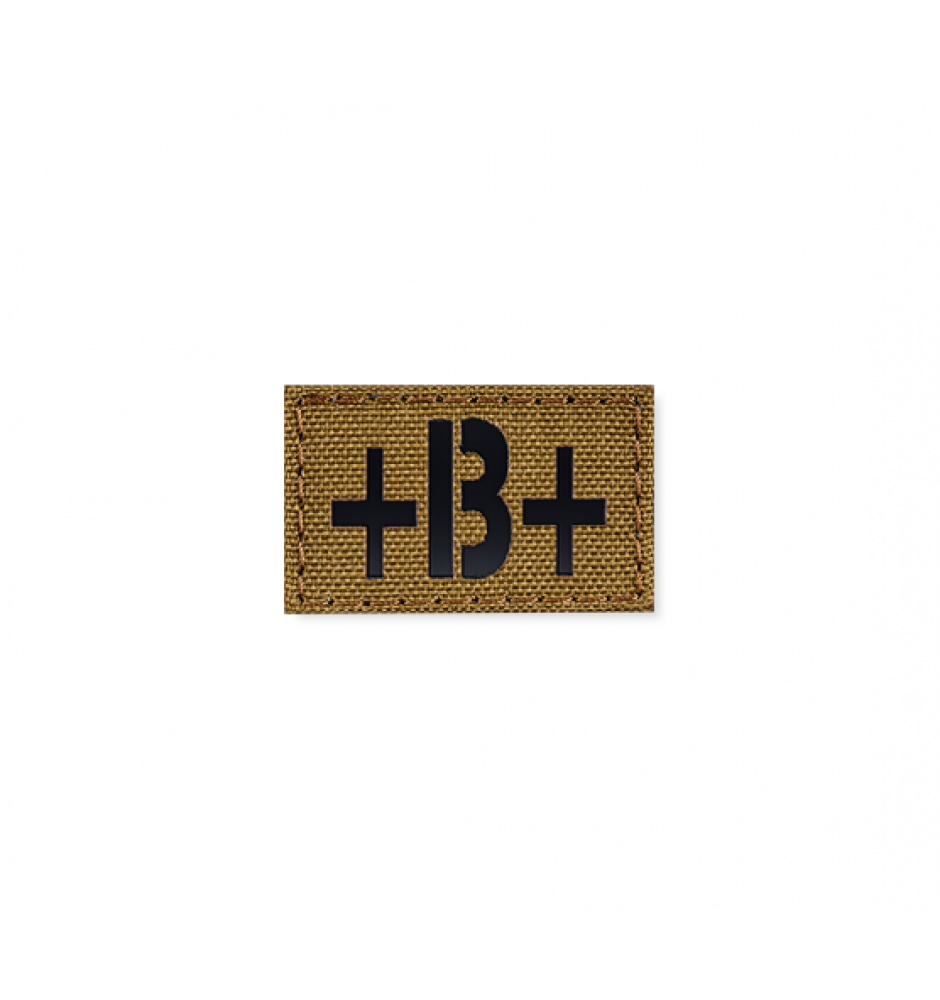 Blood Type Patch 25 * 40 (B+) Coyote