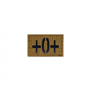 Blood Type Patch 25 * 40 (O+) Coyote