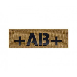 Blood Type Patch 25 * 80 (AB+) Coyote