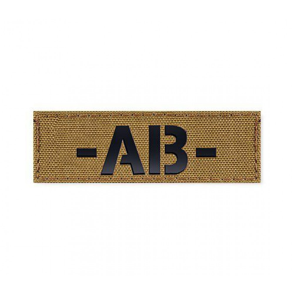 Blood Type Patch 25 * 80 (AB-) Coyote