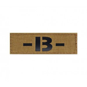 Blood Type Patch 25 * 80 (B-) Coyote