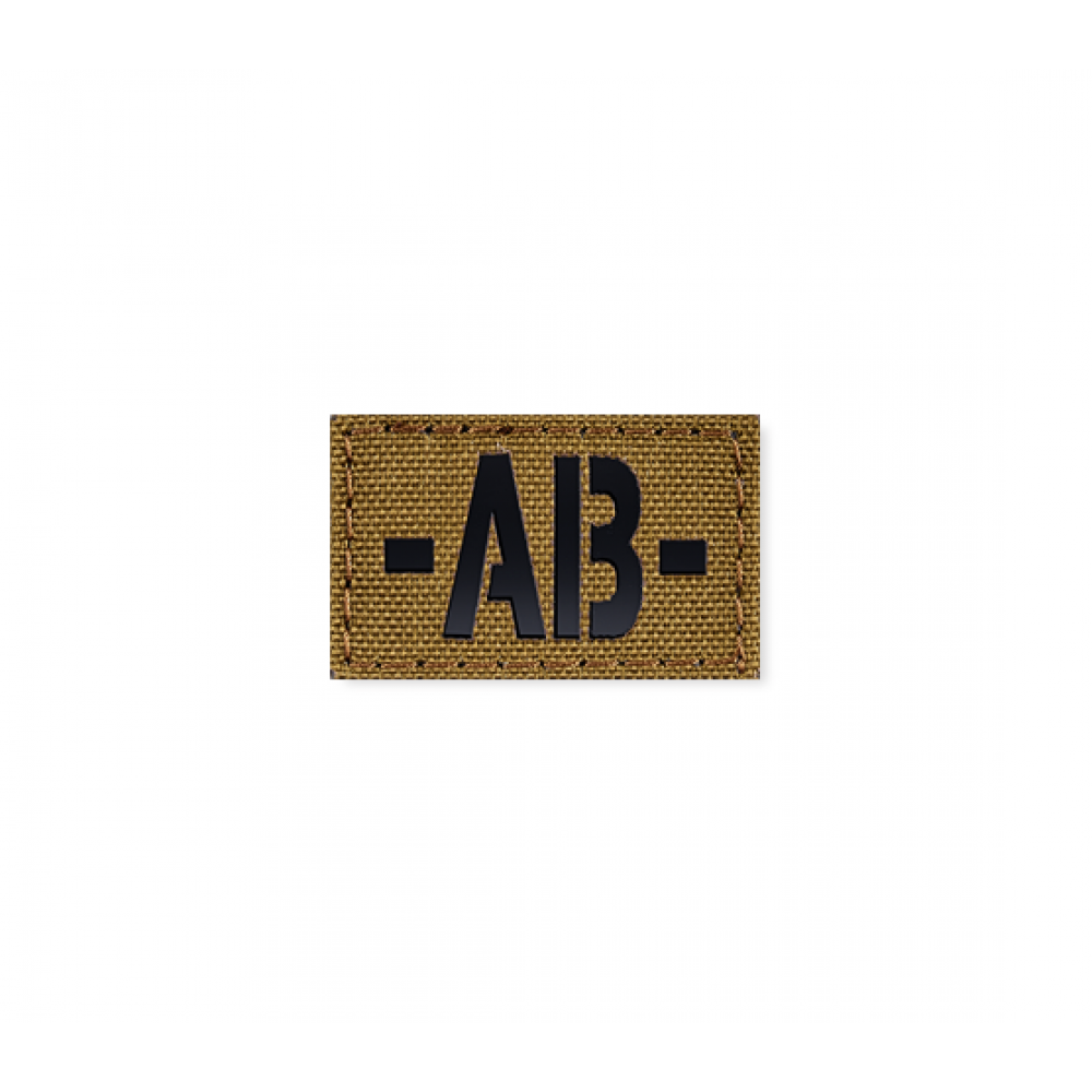 Blood Type Patch 25 * 40 (AB-) Coyote