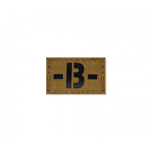 Blood Type Patch 25 * 40 (B-) Coyote