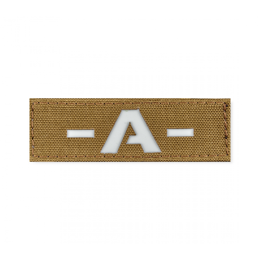 Reflective Blood Type Patch 25 * 80 (A-) Coyote