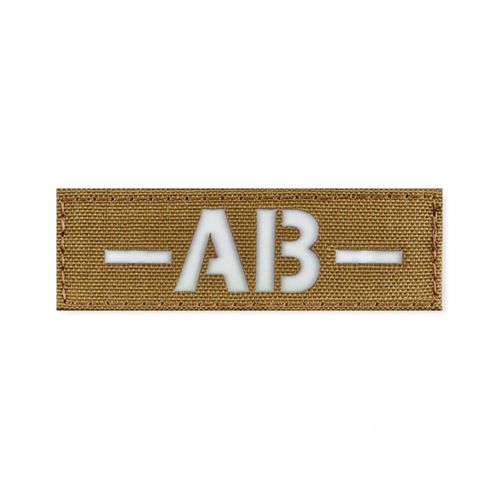 Reflective Blood Type Patch 25 * 80 (AB-) Coyote
