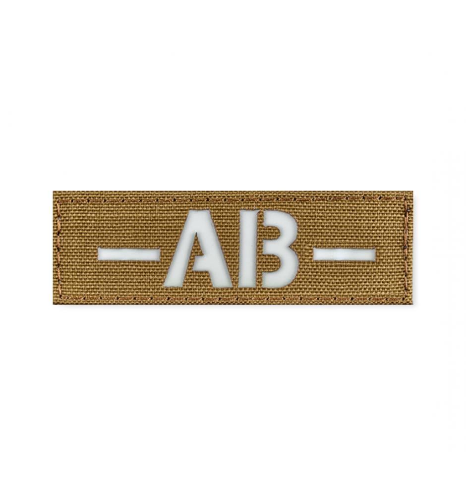 Патч світлонакопичувальний Група крові 25*80 (AB-) Coyote