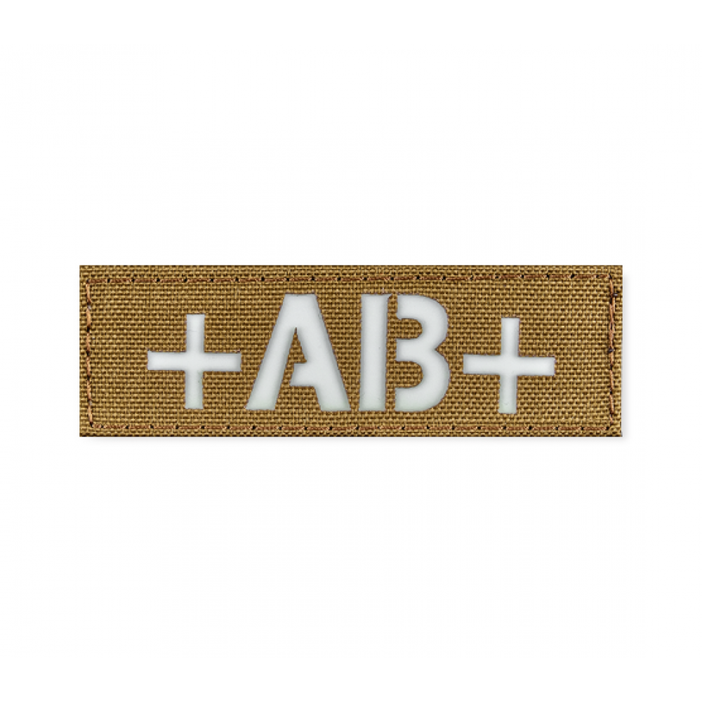 Reflective Blood Type Patch 25 * 80 (AB+) Coyote