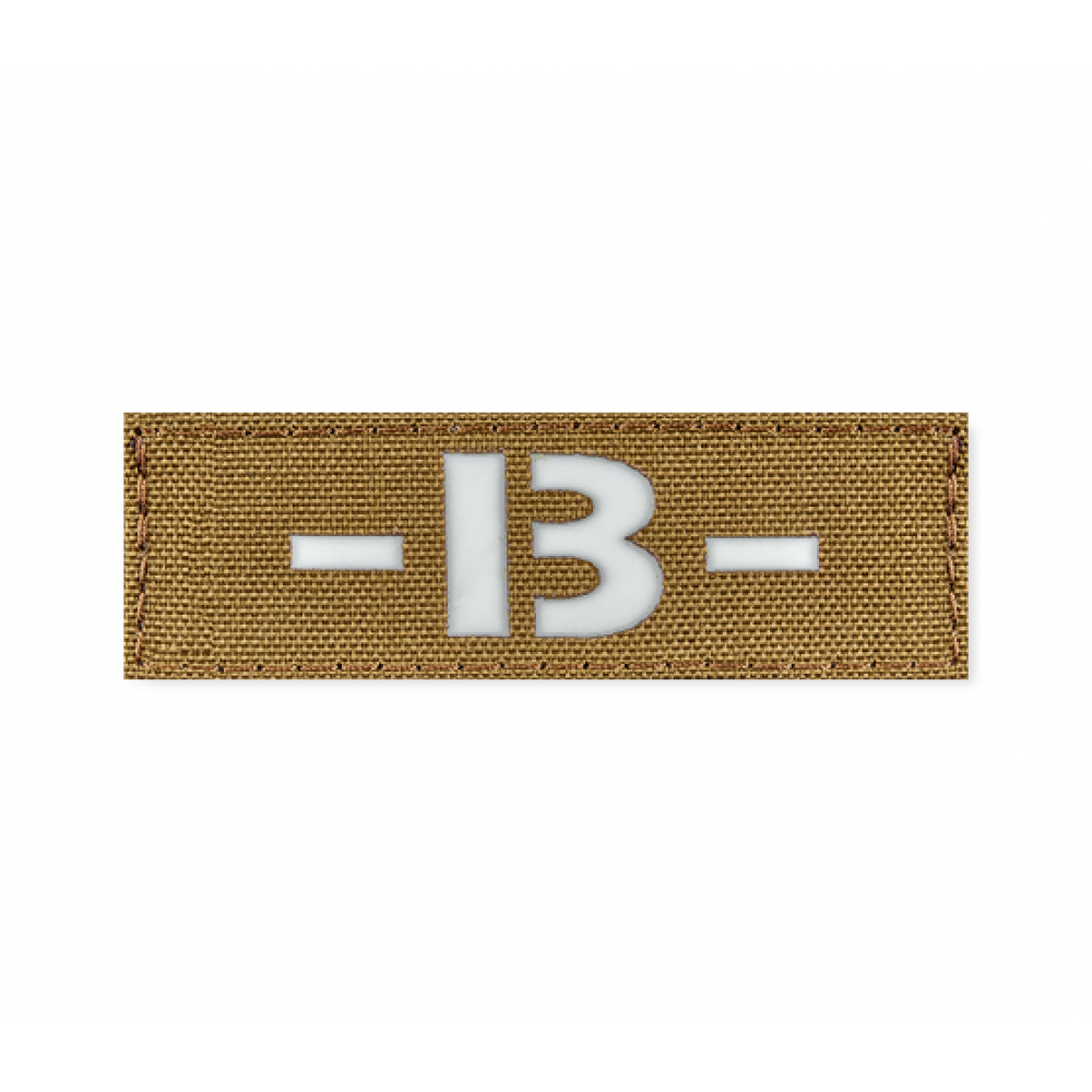 Reflective Blood Type Patch 25 * 80 (B-) Coyote