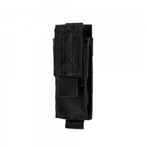 Universal pistol magazine or flashlight pouch Black
