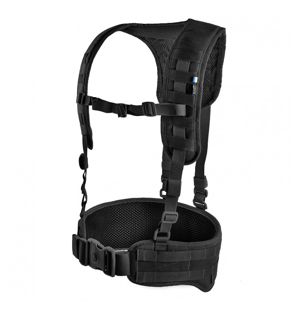 Tactical MOLLE Belt with Suspenders Z-TAC SF G2 Black